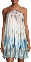 Young Fabulous and Broke Lissa Strapless Jersey Ombre High-Low Dress