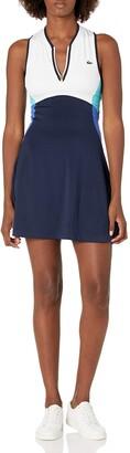 Lacoste Women's Sport Sleeveless Colorblock Tennis Dress