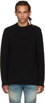 Balmain Black Marinière Sweater