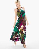 Chico's Floral Blouson Maxi Dress