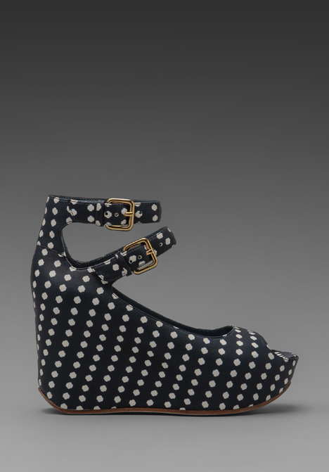 Marc by Marc Jacobs Concealed High Isabella Dot Print Half Calf Wedge
