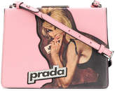 Prada printed light frame shoulder bag