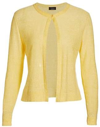 Akris Linen & Cotton Sequin Cardigan