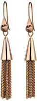 Eddie Borgo Small Rose Gold Plated Chain Tassel Drop Earrings