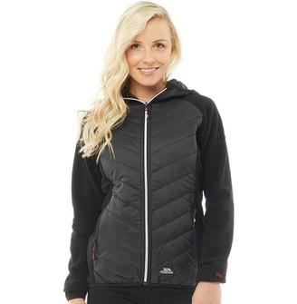 Trespass Womens Boardwalk Hybrid Padded Hooded Fleece Jacket Black