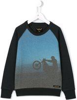 Finger In The Nose motorcycle print sweatshirt