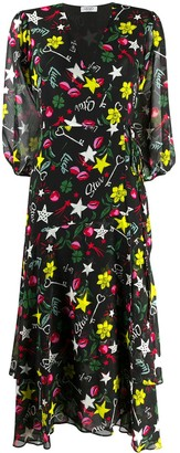 Liu Jo Graphic Print Georgette Dress