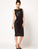 Asos Pencil Dress with Leather & Jersey