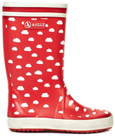 Aigle Lolly Pop Cloud Print Rain Boots