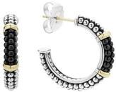 Lagos 'Black & White Caviar' Hoop Earrings