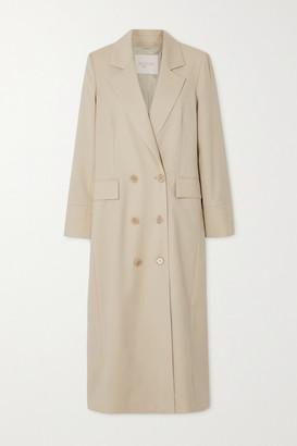 Envelope1976 - + Net Sustain Gala Double-breasted Wool-gabardine Coat - Cream