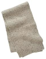 Todd Snyder Ribbed Knit Scarf in Oatmeal