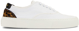 Saint Laurent Venice Low Top Sneakers in White & Manto Naturale | FWRD