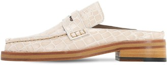 Martine Rose 30mm Arches Croc Embossed Leather Mules