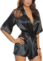 Maxhaha Women's Robe Back Lace Lingerie