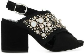Elena Iachi Embellished Open-Toe Sandals