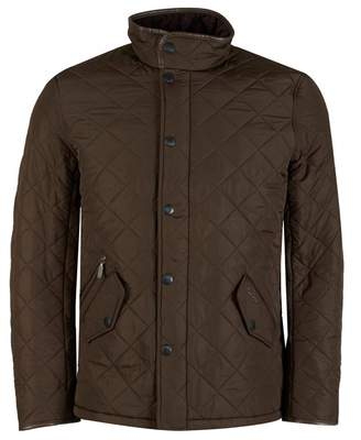 Barbour Powell Polar Quilted Jacket Colour: OLIVE, Size: SMALL