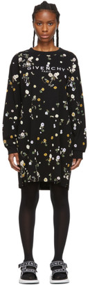 Givenchy Black Floral T-Shirt Dress
