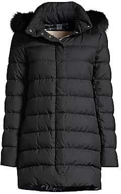 Herno Women's Microfibre Fox Fur Trim Millionaire Puffer Jacket