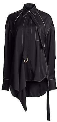 Proenza Schouler Women's Oversized Convertible Draped Shirt