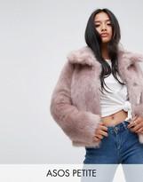 Asos Chubby Vintage Coat in Faux Fur