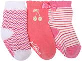 Robeez Medium Pink Cherry Baby Three-Pair Socks Set