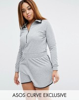 Asos Nepi Romper With Zip And Contrast Binding