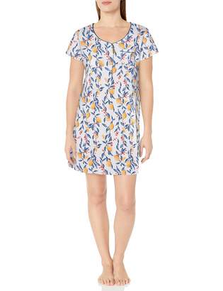 Karen Neuburger Women's Plus Size Pajama Short Sleeve Pj Sleepdress