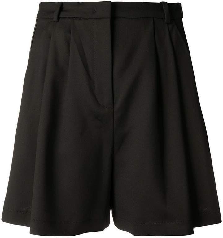 Pinko satin side stripe mini skirt