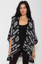 Goddis Mia Reversible Kimono In Noir