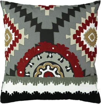 "Mod Lifestyles Southwest Collection Kayali Aztec Embroidery Pillow, 20"" X 20"""