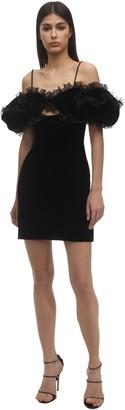 Givenchy Ruffled Velvet Mini Dress