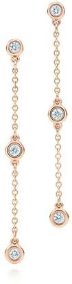 Tiffany & Co. Elsa Peretti Diamonds by the Yard drop earrings in 18k rose gold