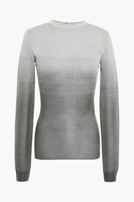 Paco Rabanne Metallic Degrade Jacquard-knit Sweater