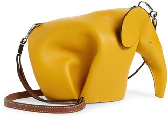 Loewe Mini Elephant Leather Crossbody Bag