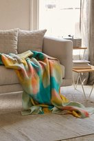 Urban Outfitters Fireside Plaid Faux Mohair Throw Blanket