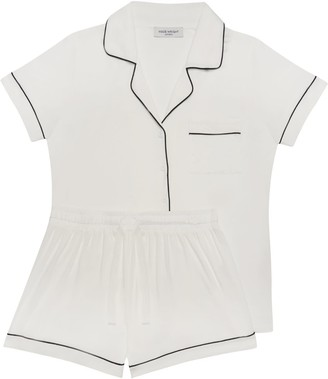 Made Wright London Aria Short Pyjama In White