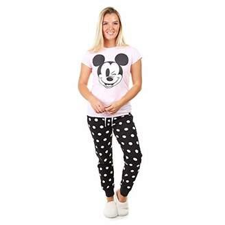 Disney Women's Mickey Wink Smile Pajama Set,Small