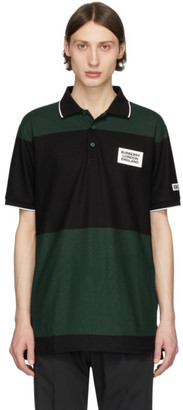 Burberry SSENSE Exclusive Black and Green Copland Polo