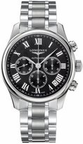 Longines Watches Master Collection Automatic Chronograph Transparent Case Back Men's Watch