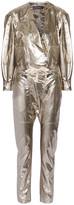 Isabel Marant Nubia Silk-blend Lamé Jumpsuit - Gold
