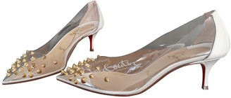 Christian Louboutin Degrastrass White Patent leather Heels