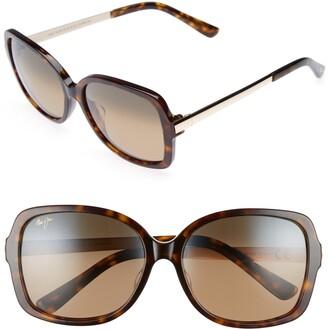 Maui Jim Melika 58mm PolarizedPlus2(R) Square Sunglasses