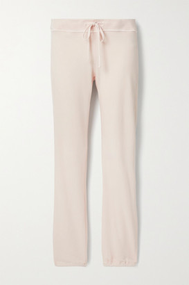 James Perse Genie Supima Cotton-terry Track Pants - Pastel pink