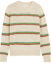 Etoile Isabel Marant Goya Striped Alpaca-blend Sweater - Ecru