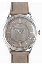 Men's James Mccabe Heritage Ii Automatic Leather Strap Watch, 38Mm