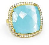 Susan Hanover Women's Square Semiprecious Stone Ring