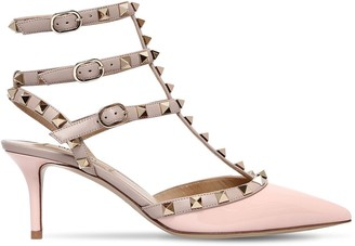 Valentino 65mm Rockstud Patent Leather Pumps