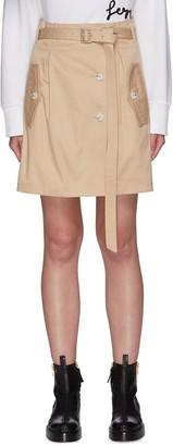 PortsPURE Belted Flap Pocket Mini Skirt
