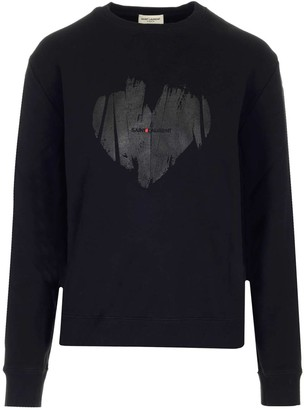 Saint Laurent Heart Print Jumper